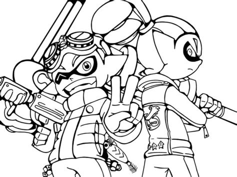 Splatoon 2 Coloring Pages by Splatoon Coloring Pictures