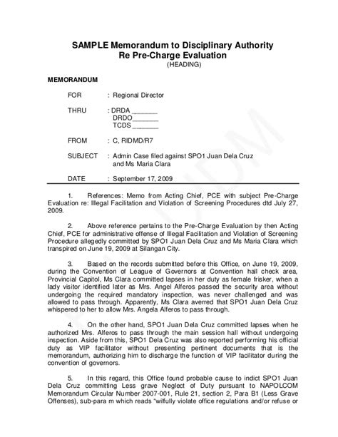 Explanation Letter Against Disciplinary Pnp Pre Charge Evaluation And Summary Hearing Guide