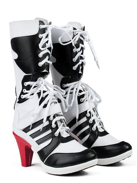dc high heel shoes harley quinn dc squad boots heels shoes