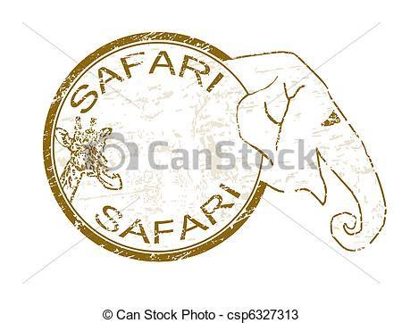 sketchbook of a zoo vetores de safari selo grunge borracha selo girafa