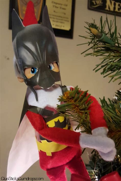 printable elf on the shelf batman batman elf on the shelf glue sticks and gumdrops
