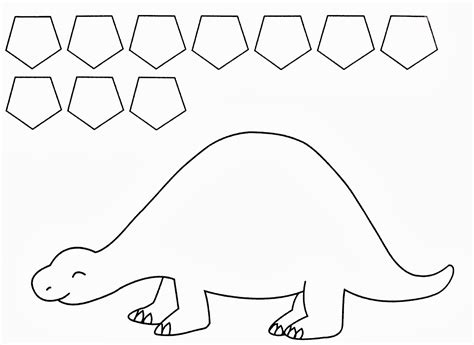 dinosaur templates twanneke dinosaur shapes pentagon shapes dinosaurs