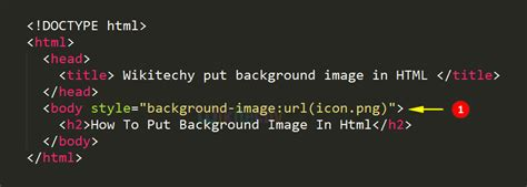 html background image code html tag wikitechy