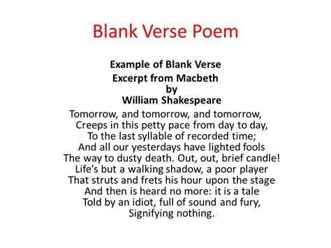 exles of blank verse www pixshark images galleries with a bite