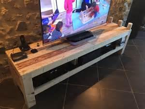 Bookshelf Headboards meuble tv de la palette pallet ideas recycled
