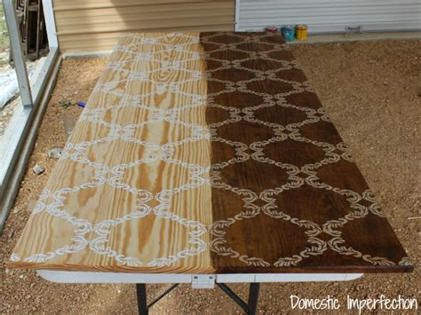 how to stain a table stenciled farmhouse table country living magazine