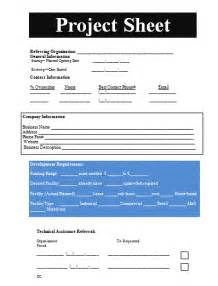 project on a page template project sheet template free sheet templates
