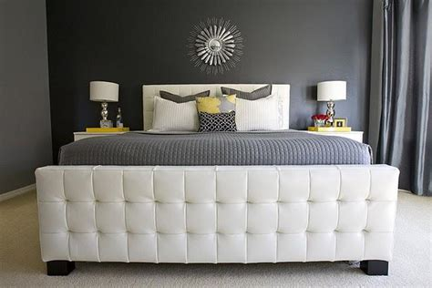 z gallerie tufted headboard leather tufted headboard contemporary bedroom behr
