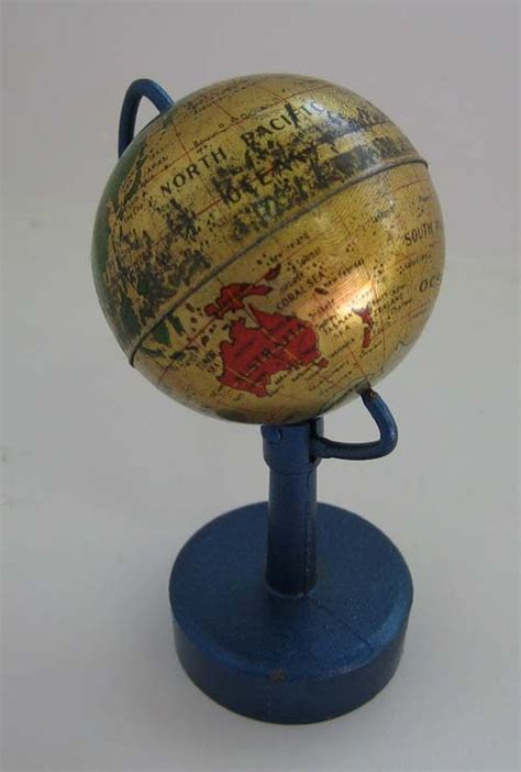 Antique Globe L by Antique German Miniature Globe Pencil Sharpener From