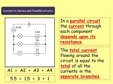 current in series and parallel resistors physics electric circuits ppt