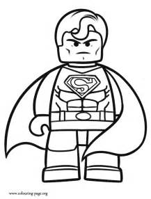 Lego superman colouring pages