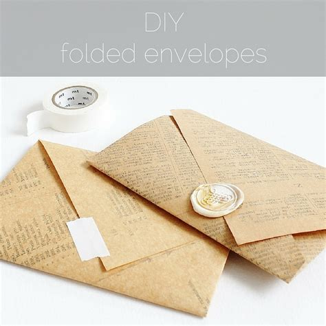 diy envelopes diy folded envelopes paperiaarre