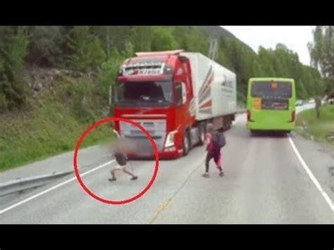 volvo truck emergency braking system   works youtube