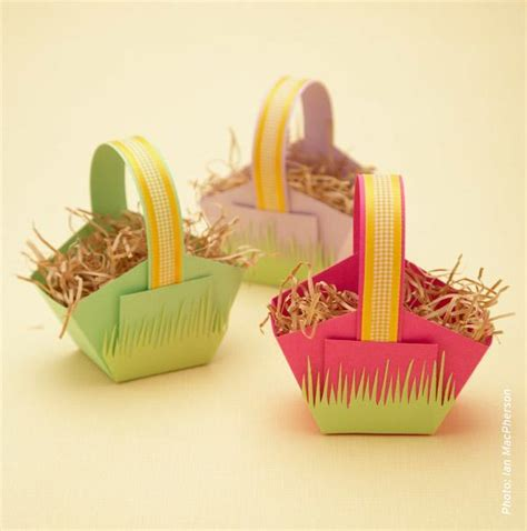 How To Make Paper Easter Baskets - 51 easter crafts for