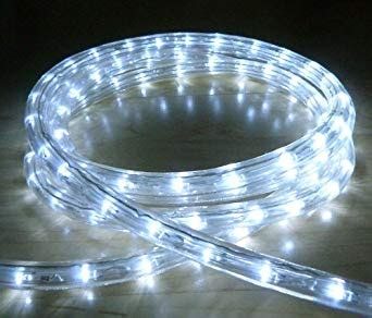 white cord string of chasing lights white led outdoor rope light with 8 functions chasing static etc ideal for garden decking