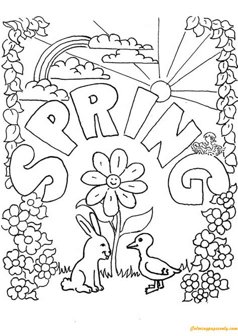 preschool spring season coloring pages free coloring pages spring season coloring page free coloring pages online