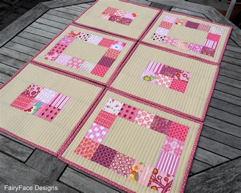Quilted Placemats Pattern by Fairyface Designs Easy Peasy Quilted Placemats Tutorial