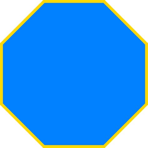 Picture Of Octagon | blue octagon clip art at clker com vector clip art