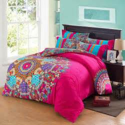 Colorful Duvet Covers King Pink Aqua Purple And Orange Colorful Exotic Indian