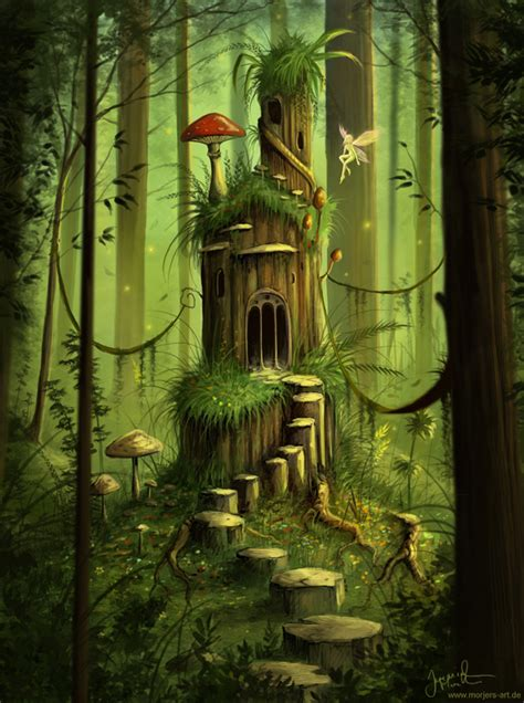 libro the faery forest an morjer s art forest castle