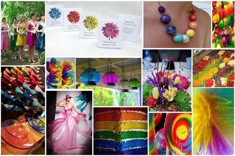 rainbow themed wedding decorations beautiful rainbow wedding theme decoration ideas
