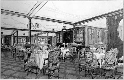 dining on the titanic google images