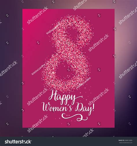 s day greeting card template 8 march womens day greeting card stock vector 588816989