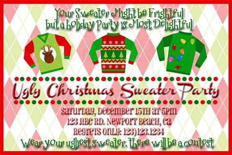 Ugly Christmas Sweater Party Flyer Invitation Templates Sweater Invitation Templates Free