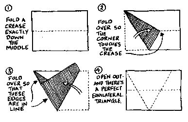 How To Fold Paper Into A Triangle - murderous maths tricks and