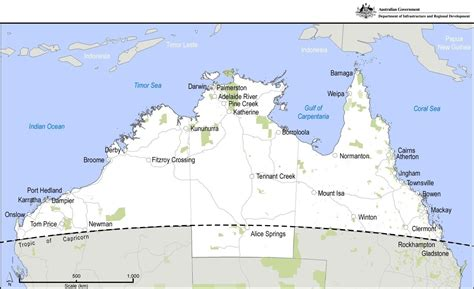 map northern australia rda townsville and nw queensland northern australia