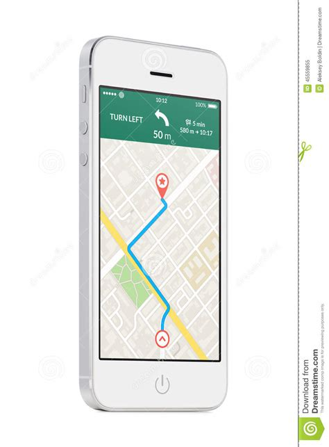 mobile phone navigation apps white modern mobile smart phone with map gps navigation