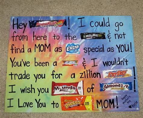 Poster Birthday Card Ideas Candy Bar Poster Ideas With Clever Sayings Hative