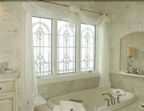 decorative bathroom windows decorative glass windows master bath my southern home