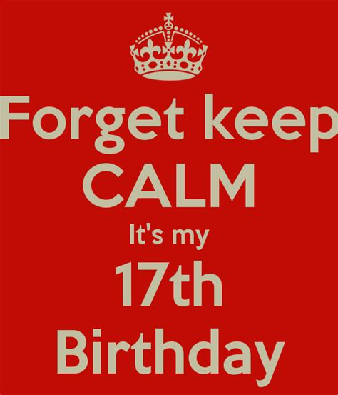 My 17th the gallery for gt dont keep calm its my 17th birthday