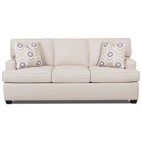 contemporary sleeper sofa with track arms and sized
