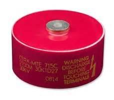ceramic disc plate capacitor 715c30dkt50 vishay ceramic disc plate capacitor 500 pf 30 kv 715c series 80 20
