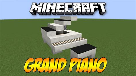 tutorial piano minecraft minecraft grand piano tutorial youtube