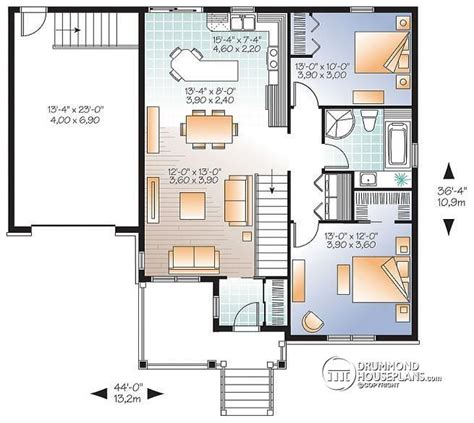 open floor plans with basement w3126 v1 small and affordable bungalow house plan open