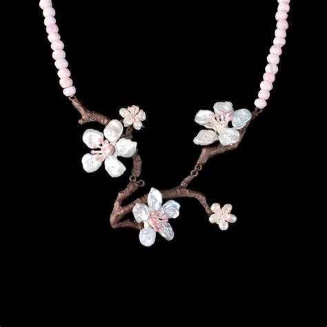 Cherry Blossom Home Decor by Cherry Blossom Contour Necklace Michael Michaud Jewelry