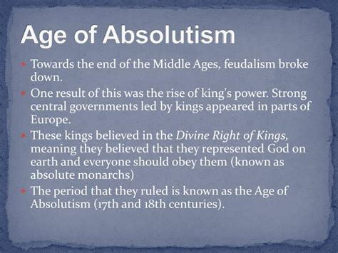 Age Of Absolutism Worksheets