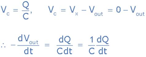 voltage across capacitor integral op integrator electronics
