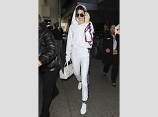Kendall Jenner Wears Vetements x Champion Hoodie ... White Gucci Shoes For Men