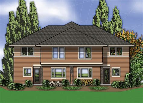 hillside house plans with drive under garage hillside hillside multi family home plan 69111am 2nd floor