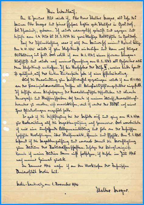 Handgeschriebener Lebenslauf Pin Handschriftlicher Lebenslauf On