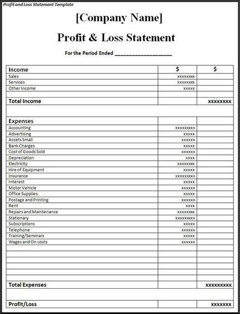 simple profit and loss template for self employed restaurant profit and loss statement free simple profit