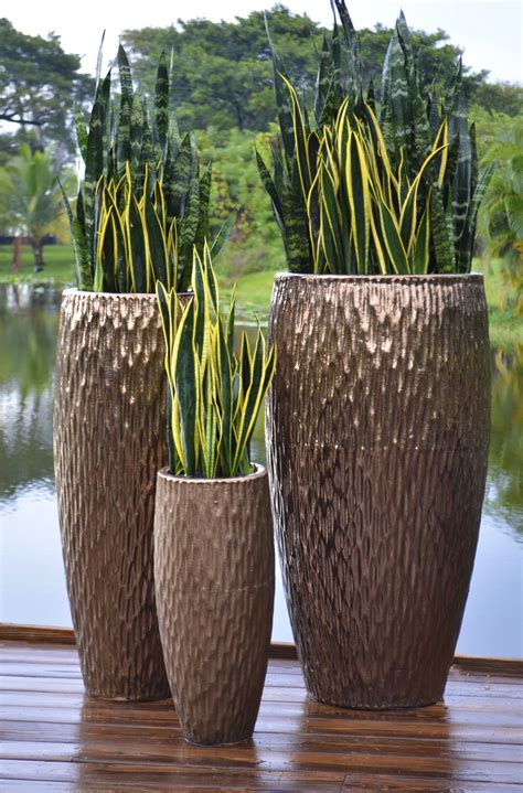 The Pottery Patch Metallic Copper Tall Egg Garden Planters Outdoor Planters