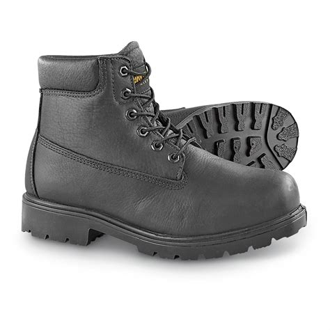 black steel toe boots for s wolverine 174 6 quot waterproof steel toe boots black