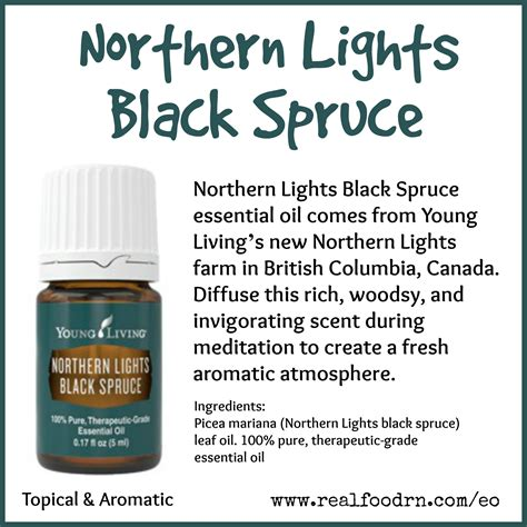 Northern Lights Black Spruce Essential Oil Real Food Rn