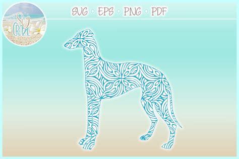 greyhound mandala zentangle bundle svg eps png