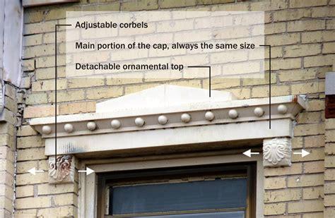 Corbel Installations Patent No 405 232 Window Cap Mesker Brothers